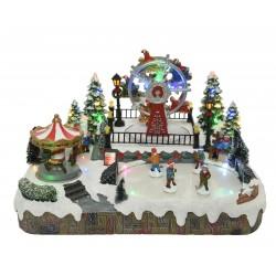 Pueblo  Navidad Pista de Hielo