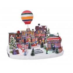 Pueblo  Navidad globo
